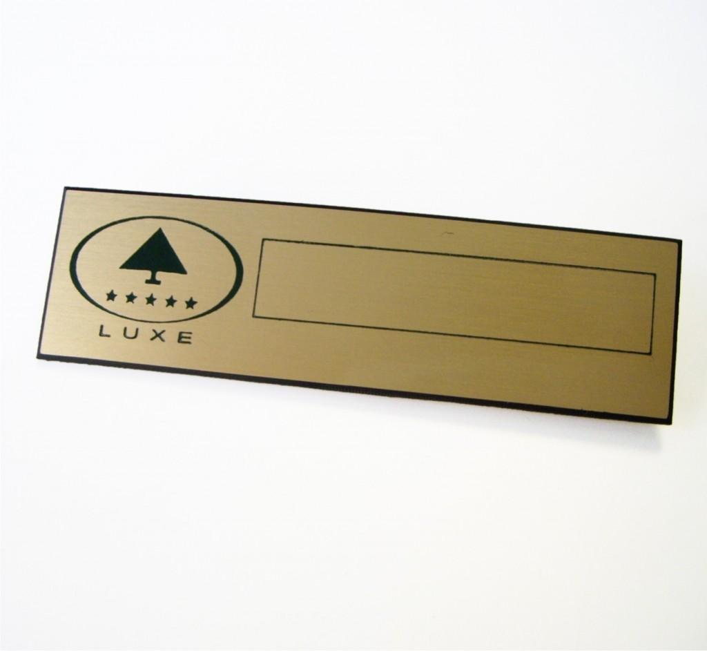 Chapa de identificación o badge