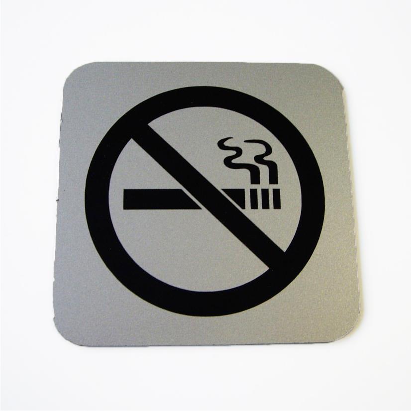 placa de prohibido fumar