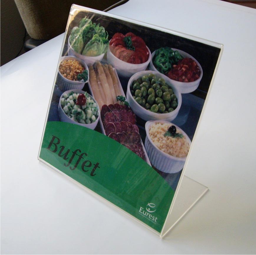 Cartel para menús